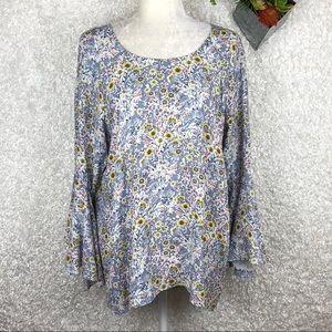 LC Lauren Conrad Bell Sleeve Tunic | XL
